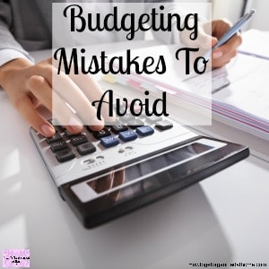 Don't make these common budgeting mistakes