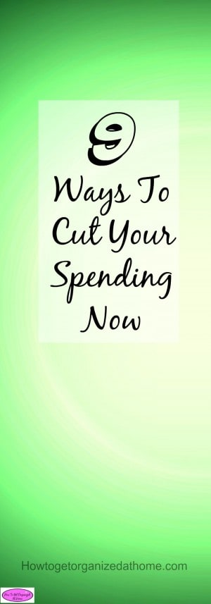9 ways to cut your spending now! You can reduce the amount you spend, it isn't as difficult as it sounds! You can do it you can cut your spending now!