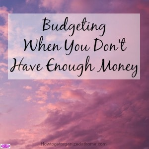 It isn't easy budgeting but when you don't have enough money to pay all your bills it difficult. However, there are some things you can still do!