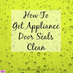 If you want to get your appliance door seals clean you must read this article it is full of great tips to get your door seals clean.