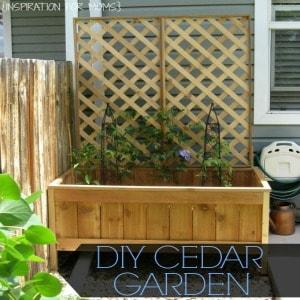 Raised Cedar Garden Planter {Tutorial}