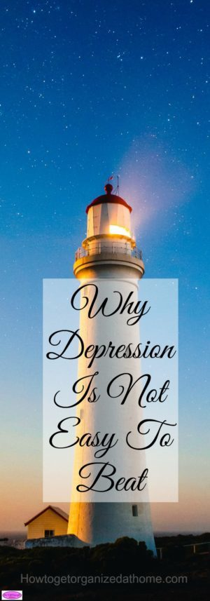 Depression is not easy to beat, especially alone! People don't see the pain that you go through or understand the depths of despair you feel!
