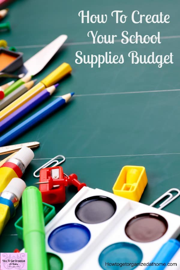 Don't start the back to school shopping without creating a back to school budget!