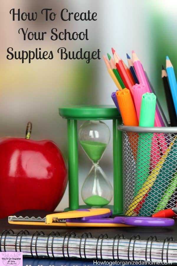 Make your school supply budget a priority! Take action now before it is too late and create that school supply budget!