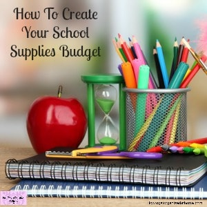 Do you normally put school supplies on credit? Take action now and create your budget!