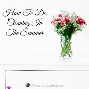 Cleaning in the summer is no fun when you would rather be spending quality time with family. However, it is possible to do both!