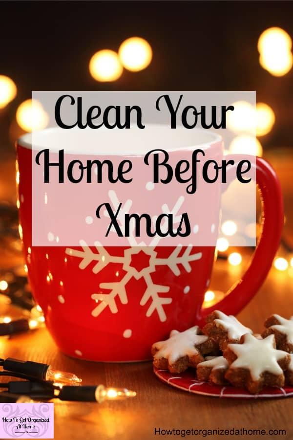 Here is how you clean your home before Christmas! With lots of different tips and strategies to help you get what you needs doing!