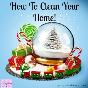 Tips and strategies to help you clean and make your home sparkle in time for the big day!