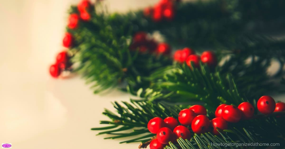 How to have Christmas decorations without more cleaning! For me,my time is precious and I don't want to spend even more time cleaning!