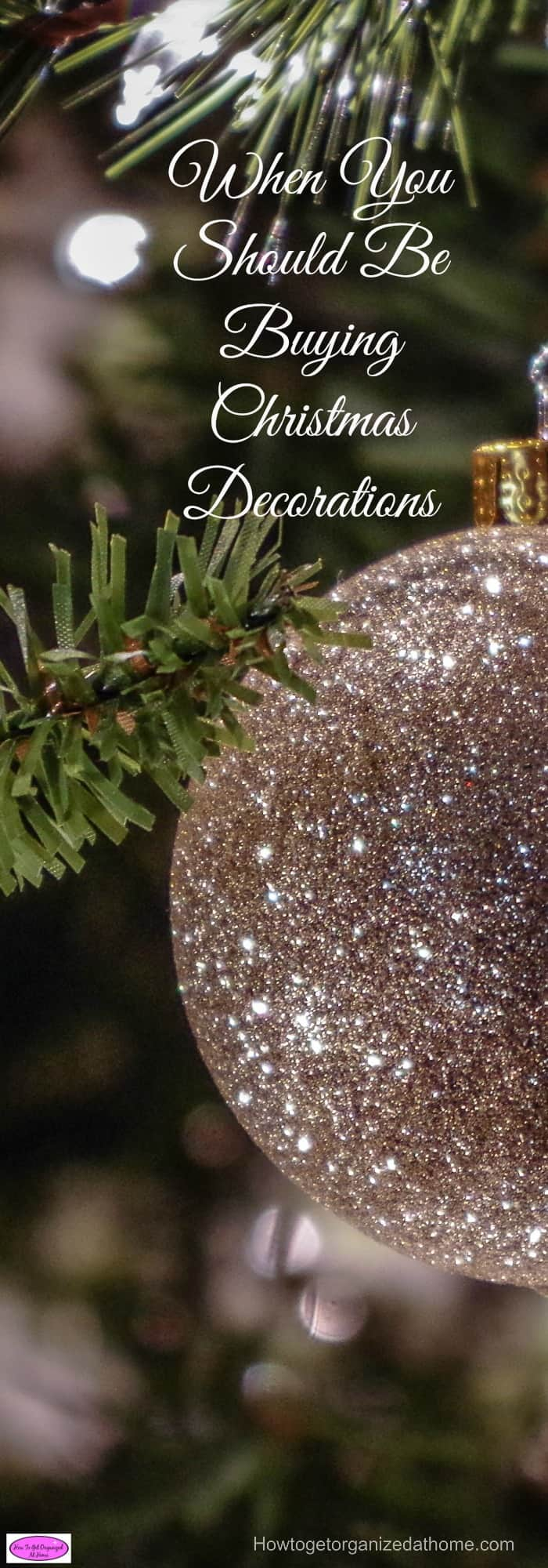 Buying Christmas decorations in January isn't as crazy as you might think. It is a great time to buy them! Click the link to find out why!