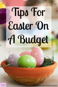 Tips and ideas to create a budget proof Easter! Don't forget your budget when planning ideas, decorations and fun things to do this Easter time!