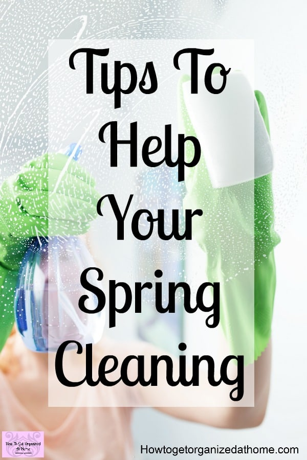 Spring cleaning tips and tricks! Don't let spring cleaning get you down, create a plan on how to attack it once and for all!
