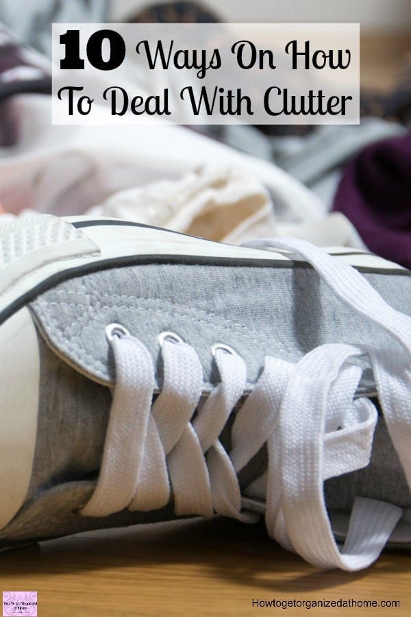 Declutter your home and tackle the clutter! Lear how to tackle clutter before it takes over your home and life!
