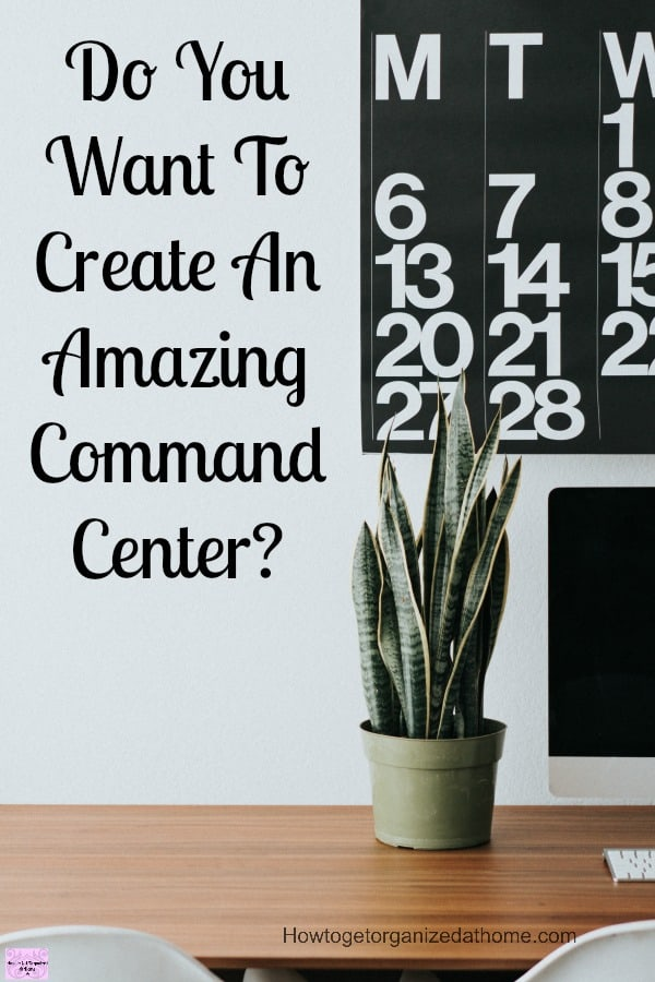 Do you want to create an amazing command center for your home? It will help you organize your family's commitments in one place!