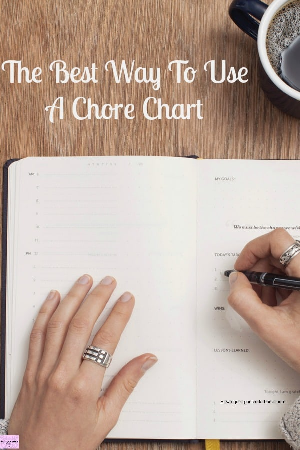 The best way to use a chore chart in your home is to find a system that works for your family and to follow the rules you have set up