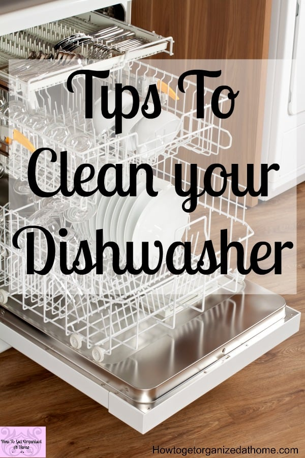 Do you need to know how to clean your dishwasher? Is it starting to smell? These tips will help you clean and keep your dishwasher smelling clean and fresh for longer!