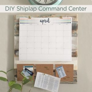 DIY Shiplap Command Center