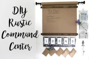 DIY Rustic Command Center