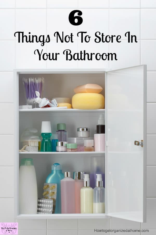 Don't store these things in your bathroom, not only are they bad for your health, it can also affect the life of the product!