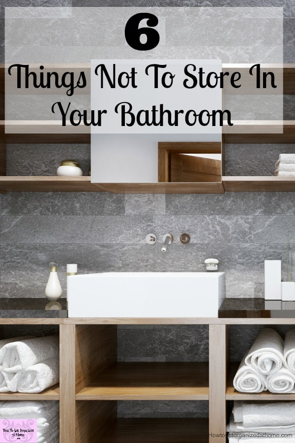 Storing certain items in your bathroom is not good, it can breed bacteria and mould growth increases!