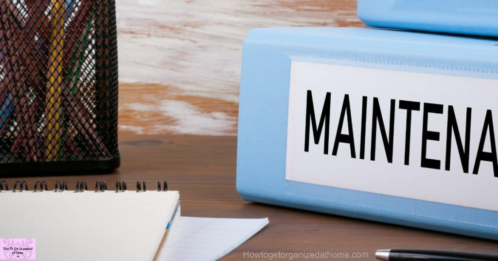 Getting your home maintenance binder sorted out can help to organize your maintenance and upkeep of your home!