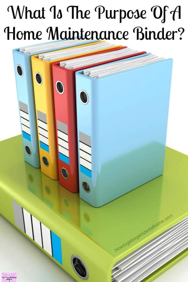 Your home maintenance binder is how you take control of the maintenance of your home!