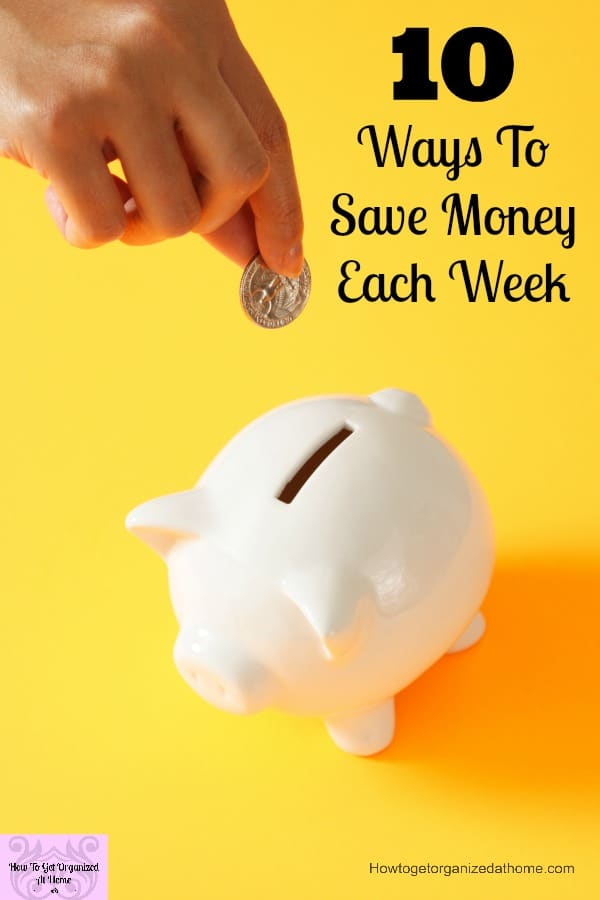Do you know how to save money each week? How to cut costs each week without taking drastic action!