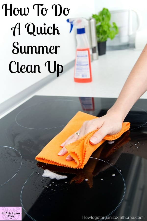 How to do a summer clean up when you have so many other pressing tasks on your to-do list? Change how you do your cleaning to reflect the time you have!