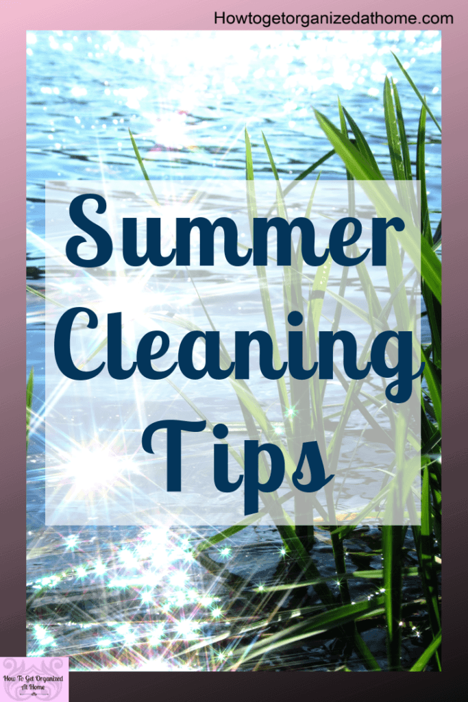 Simple tips and tricks to help you tackle the cleaning in your home this summer. Don't panic over doing it all, just keep on top of the basics and enjoy some time off. #cleaning #summer #home