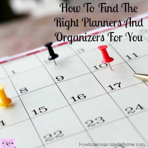 Simple, find a planner that works for you!