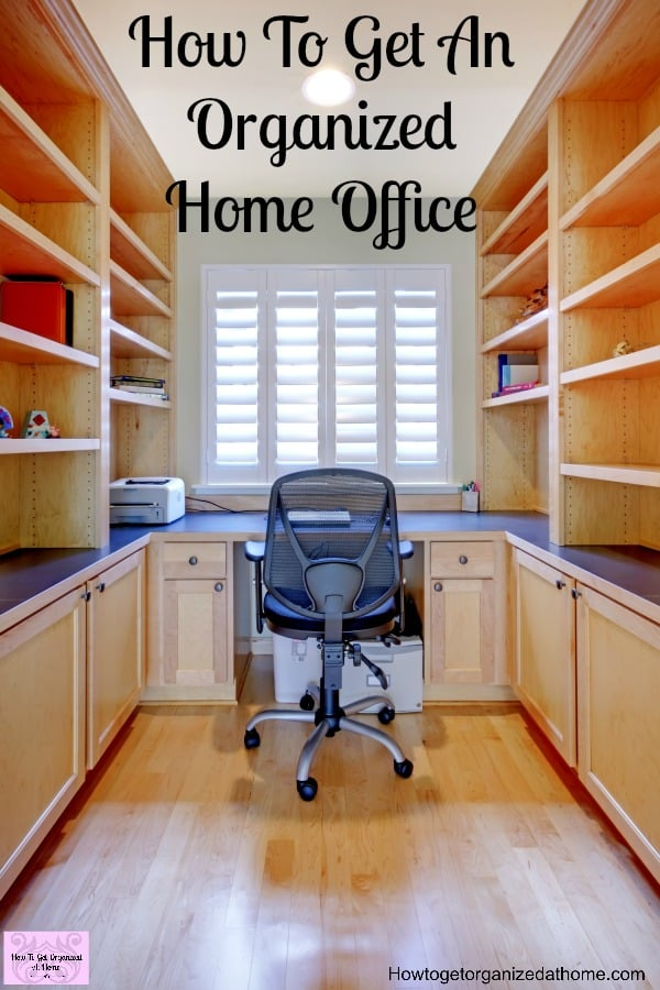 How to get your home office organization sorted isn't difficult! You just need a plan and stick to it!