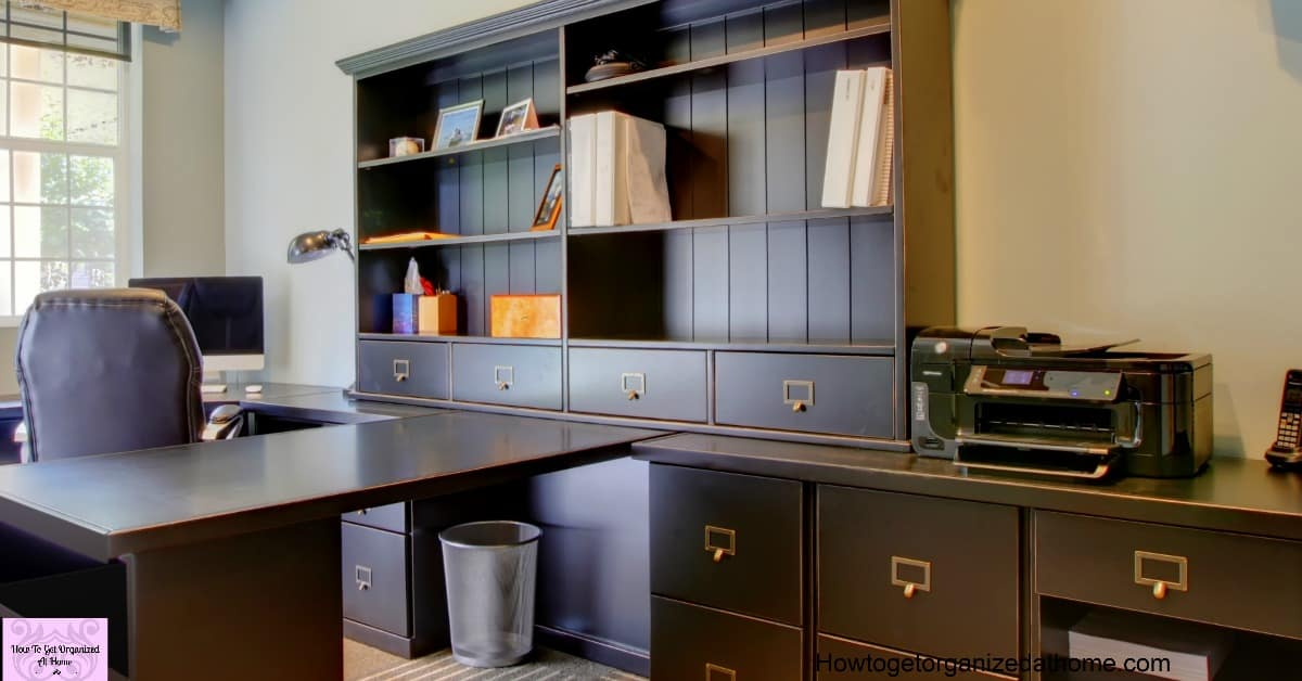 how to get an organized home office simply and easily. Black Bedroom Furniture Sets. Home Design Ideas