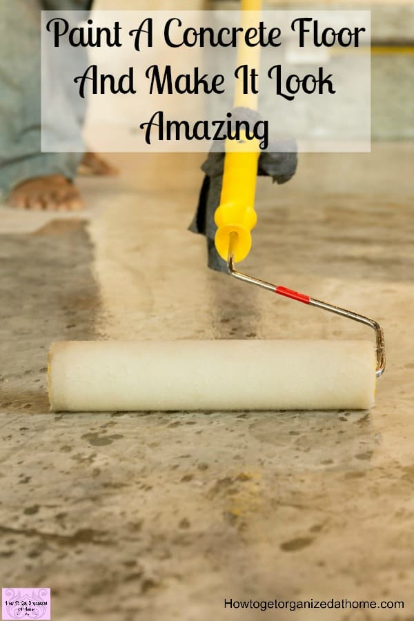 Paint a concrete floor and make it look absolutely amazing for What can i do to my concrete floor