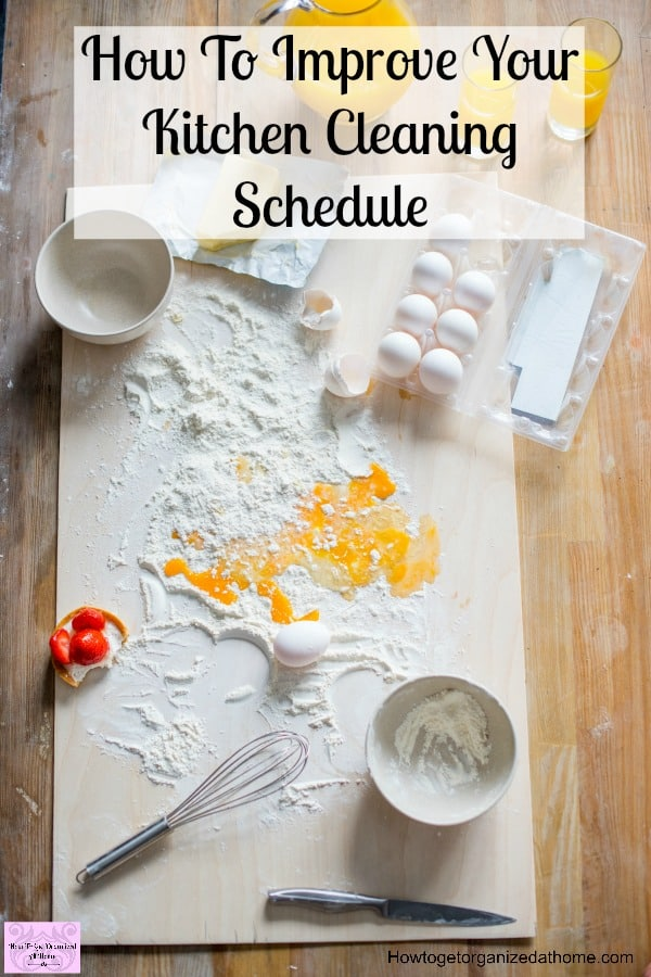 Manage your kitchen cleaning simply and effectively! Don't think you need to spend hours cleaning each day! Use a checklist to make sure you are cleaning and create an amazing routine that gets the tasks done!