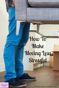 How to make moving easier, if you plan for your move properly you can reduce the stress and make it a more enjoyable experience!