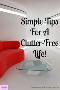 Clutter taking over your home and life? There are things you can do today to stop the clutter in its tracks and take back control of your home from all the clutter!