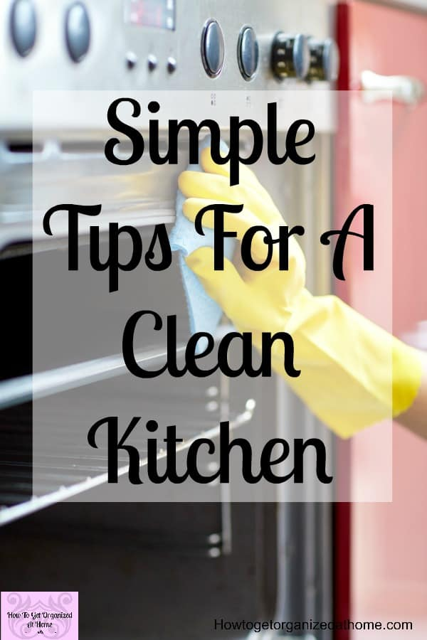 Are you looking for simple tips to get your kitchen looking clean all the time! These tips will help you tackle your kitchen and make it look deep cleaned all the time!