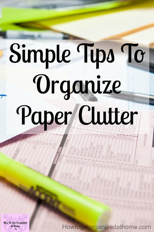 Are you looking for ideas on how to organize paper clutter? Do you need to rethink your paper storage? What is the result you are looking for? Paper clutter can quickly take over your home!