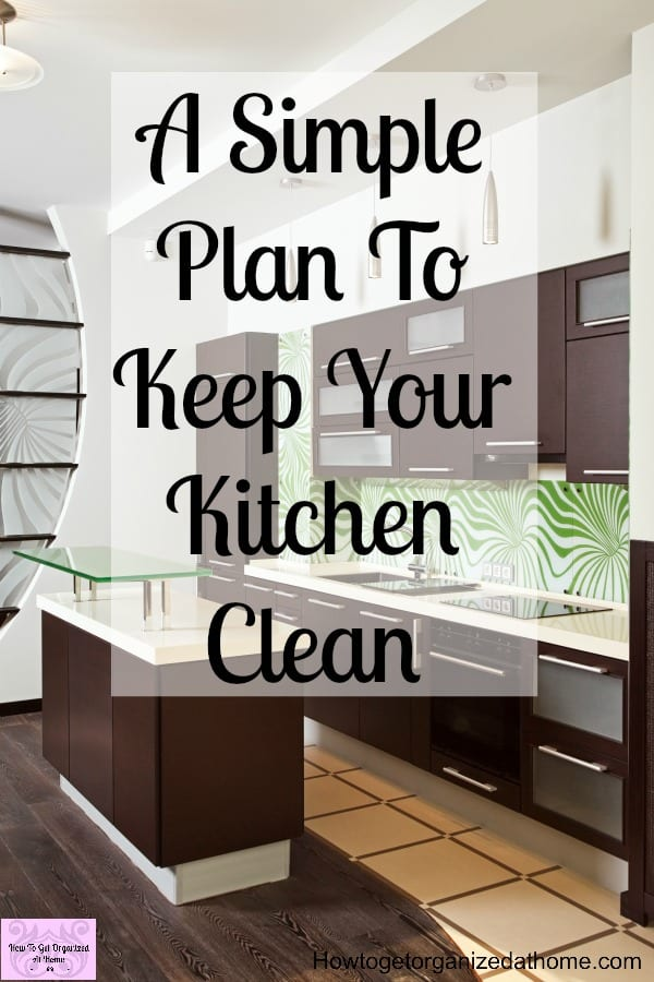 If you are looking for some simple tips to help you keep your kitchen clean then these tips will help! It is really simple, you need to plan how to clean your kitchen and when!