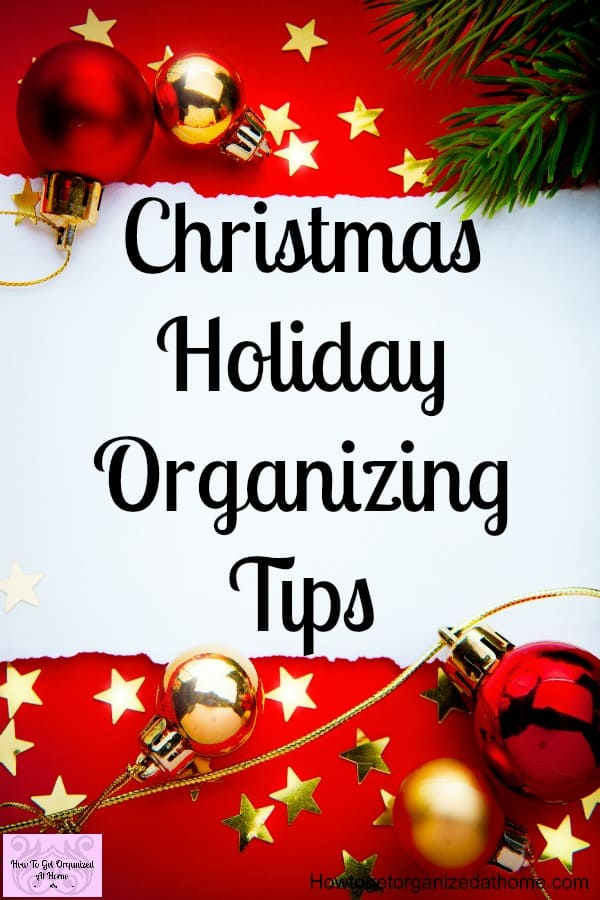 Holiday organizing tricks to use to help you plan for the holiday season and make it easier on you! Great tips to help you with all aspects of the holiday season!
