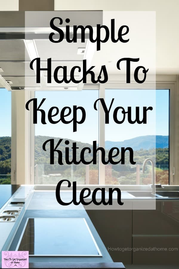 Looking for cleaning tips to keep on top of the kitchen cleaning? These simple tips and ideas will teach you the top tips to keep your kitchen really clean!