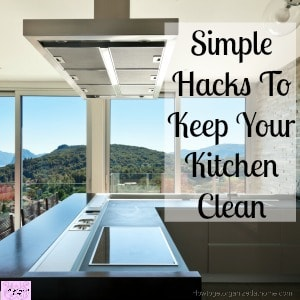 A clean kitchen doesn't just happen, it takes work and commitment to keeping it clean!