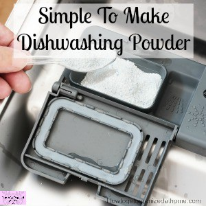 Simple And Easy To Make Homemade Dishwasher Detergent