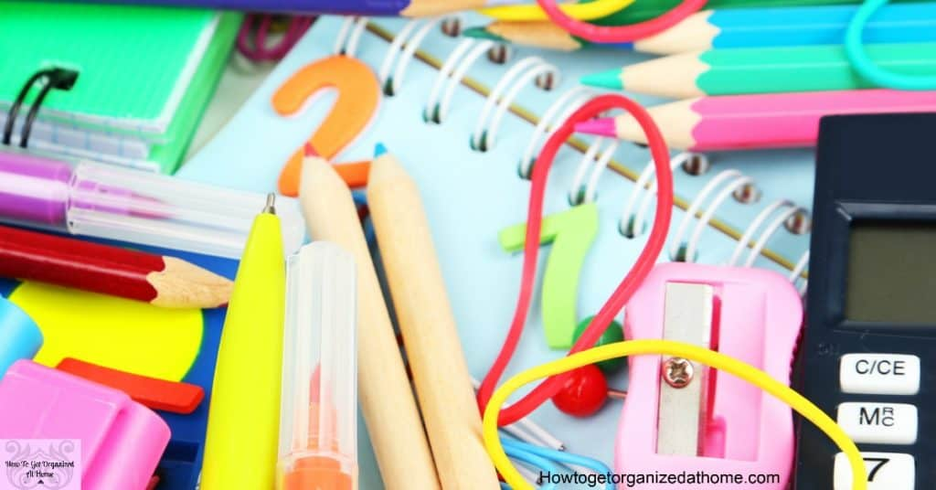 Are you looking for ways to tackle the school items that your kids need? Are their school supplies taking over your home? Tackle them simply with these ideas!