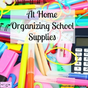 Looking for ways to organize school supplies for your kids at home? These ideas will get you buzzing!