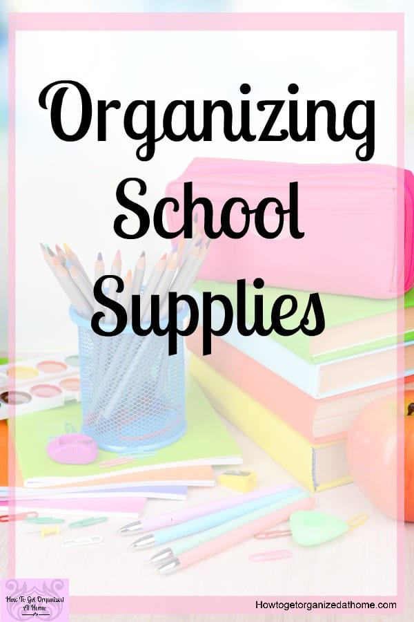 Organizing your school supplies at home is going to be something that you will need to tackle if you ever want your home to look presentable with kids! You will be inspired to help you organize with all the tips and ideas, click to read!