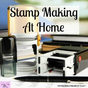 Create your own custom stamps at home with the Silhouette Mint! I will show you how easy it is!