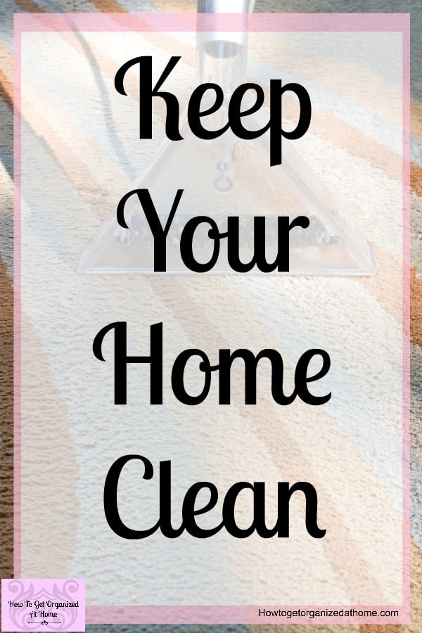 When you want to sell your home the cleaner it looks to a potential buyer the more likely they are going to like your home! Therefore, it's important that you spend the time keeping it clean!