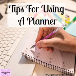 Tips for using a planner to help you organize your life and your time!