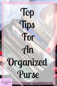 Do you want to know how to keep the inside of your purse organized? These simple tips and ideas will help you keep on top of the clutter and make keeping it organized a breeze!